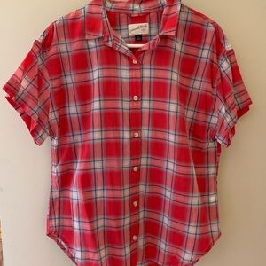 Universal Thread button down plaid blouse.